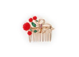 Фото: Стильная заколка для волос (Red Flower DG Style Comb)